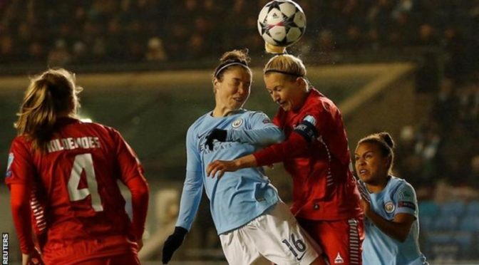 여자 챔피언스 리그 Manchster City  2-0 Linkopings